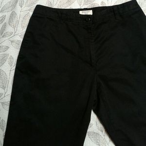 Brooks Brothers 346 Black Cotton Twill Capri Pants